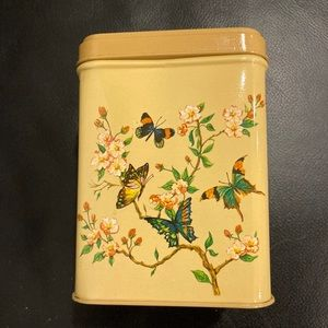 Butterflies and Flower Tin